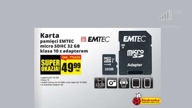 szybka-karta-pamieci-microsd-32-gb-class-10-za-mniej-niz-50-pln-do-kupienia-w-biedronce